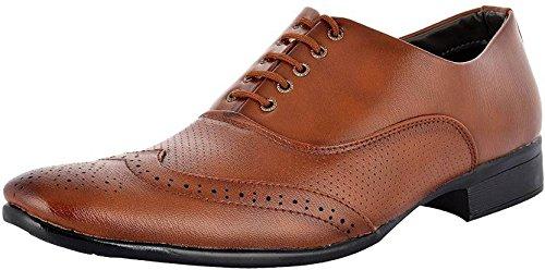 TR Men's Formal Shoes (6, Brown)