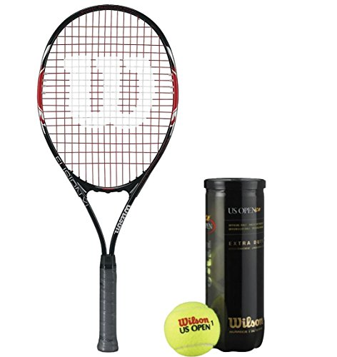 Wilson Racquet and Ball Tennis Kit (Fusion 3 Tennis Racquet for Adults + US Open Tennis Ball, pack of 3)  available at amazon for Rs.2304
