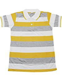 Diaz Boy's Half Sleeves Strip T-Shirt