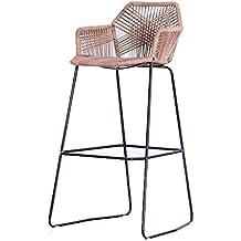 Chaise En Osier Haute Et Chaises De Bar Table Jardin