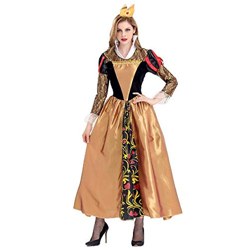 Poison Kostüm Party - Z&S Frauen Halloween Kostüm Uniform Versuchung Sexy Rollenspiel Deluxe Poison Queen Party Kostüm (einschließlich Kleid + Krone),Brass,M