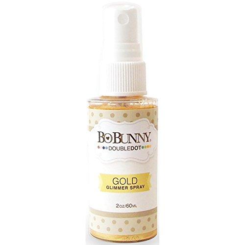 Bo Bunny Double Dot Glimmer Spray, gold, 2-Ounce