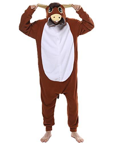 dressfan Onesie Adult Unisex Tier Onesie Esel Overall Halloween Weihnachten Cosplay Kostüm (Machen Esel Kostüm)