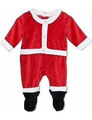 Vine Ropa de Santa Claus De Bebé mameluco manga larga Con