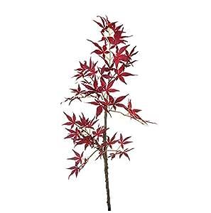 SIA Home Fashion 91cm polyester érable japonais fleur tige, rouge