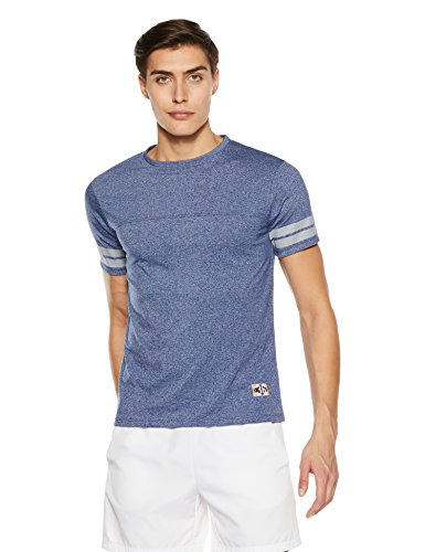 Amazon Brand - Symbol Men's Plain Regular Fit T-Shirt (SS18PLK118A Fox Blue L)