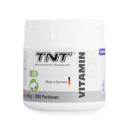 Vitamin D3 Hochdosiert | Vitamin-Pulver als Nahrungsergänzung für Alltag, Sport, Fitness & Bodybuilding | Immunsystem stärken | TNT Premium Qualität aus Deutschland - 90g