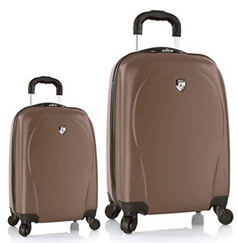 Sets de Bagages, valises - Première Classe Valise Rigide Set 2 pièces - Heys Core XCase Spinner Taupe Bagages à Main + Trolley avec 4 Roues Mèdias