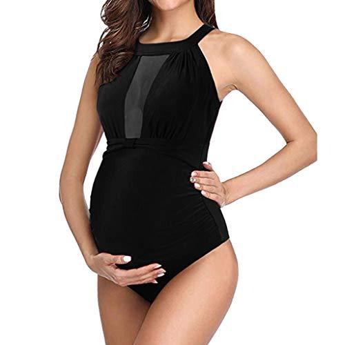 Allence Mutterschaft Badeanzug Neckholder Bikini Mode Bademode Schwangerschafts Strand Swimwear Charmant Umstandsbadeanzug Mama Umstandsbademode Damen Badeanzug -