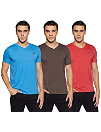 Amazon Brand - Symbol Men's Plain Regular Fit T-Shirt (Pack of 3)