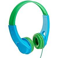AmazonBasics On-Ear-Kopfhörer für Kinder Blau / Grün