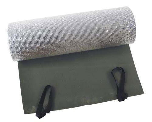 Fox Outdoor BW Discount- Tappetino arrotolabile, 200 x 50 x 1 cm, colore: verde oliva, con strato di alluminio
