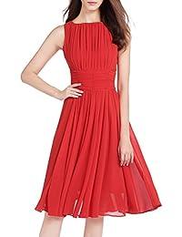 Kleid rot chiffon