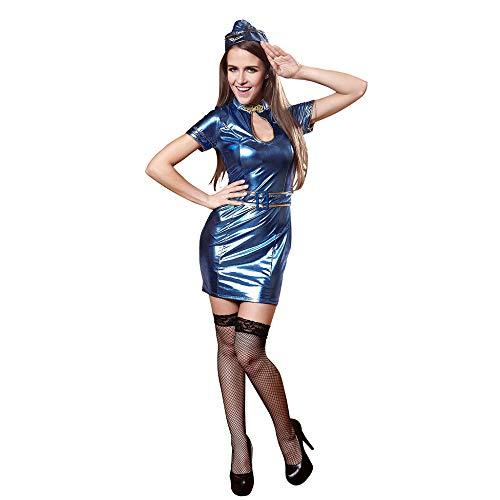 (KAIDILA Stewardess Uniform Cosplay Cosplay Sexy Uniform Stewardess Kleid Uniform Verführung)