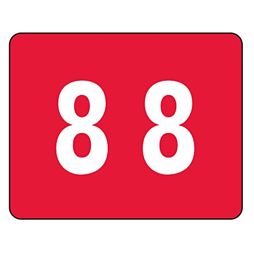 Smead color-coded numérico 8, color rosso