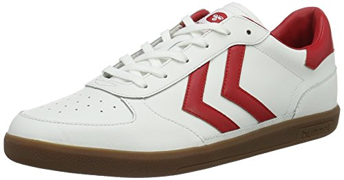 Hummel Unisex-Erwachsene Victory Leather Low-Top, Weiß (White), 39 EU (Gewinner Flagge)