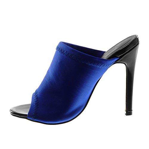 2093664127600 ... Angkorly Chaussure Mode Mule Escarpin Slip-On Stiletto Peep-Toe Femme  Finition Surpiqûres Coutures ...