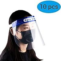 BLLJQ Protector Facial De Seguridad, Antipolvo, Tapa De Protección Completa, Equipo De Protección Facial, Protección contra Salpicaduras De Saliv (10 Piezas),Children\'s (28cm*20cm)