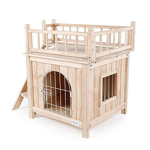 PLDDY Caseta Mascotas escaleras/Refugio Perros Madera/Habitación