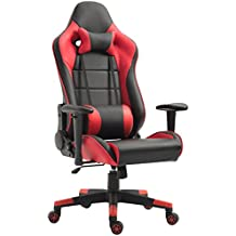 Tiigo Racing Silla Gaming Silla Ergonómica Silla de PC Gamer(Rojo)