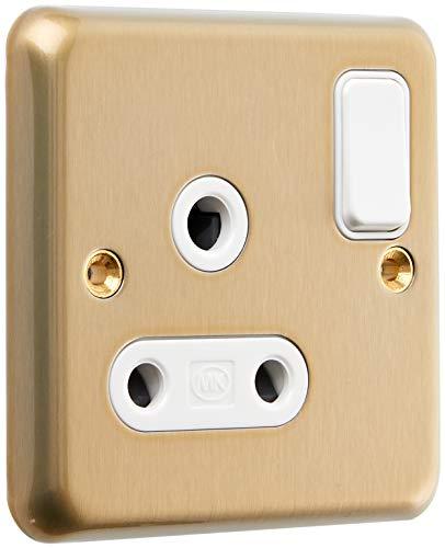 MK k2883sag 15A Single Rund Pin Schalter Steckdose mit Doppel Pole-Satin Gold -
