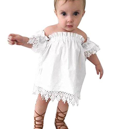 JYJM Sommer Casual Kinder Baby Prinzessin Spitze Party Top Hochzeitskleid für 1,5 bis 5 Jahre alte Mädchen (Größe: 1.5 Jahre alt)
