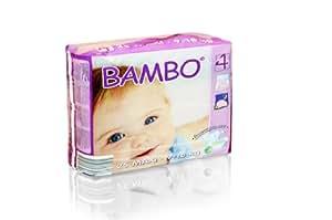 Lot de 180 couches BAMBO NATURE T4 Maxi 7-18kg