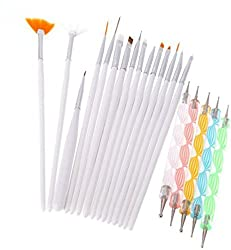 Combo Offer of Nail Dotting Marbelizing Tool Set & Nail Art Brush Pen Set. Nail Decoration Stamping