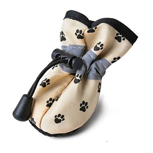 Feidaeu 4 StüCke Winter Haustier Hund Schuhe Wasserdicht rutschfeste Warme Socken Stiefel Kleine Katzen Hunde HüNdchen Pfotenschutz Schuhe -