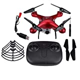 L300HD Drone 25 Minutes Temps de vol, 2.4GHz RC Quadcopter avec Caméra 480p / 720p / 1080P WiFi Transmission RC Drone (1080P-Red)
