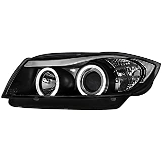 AutoStyle SK330-103054D-EJM Headlights  3 E90/E91 Sdn/Trng 3/05- Black Plus Halorims, LHD