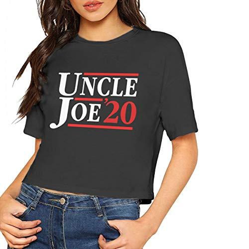 Uncle Joe Biden 2020 Election President Women's T - Shirt,Women's Cropped Top Leaking Navel T-Shirt Joes Jean Cropped Pant