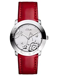 s.Oliver Damen-Armbanduhr Casual XS Analog Quarz Leder SO-2472-LQ