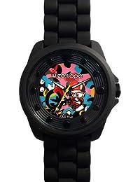 Wize & Ope BIG-4 - Reloj analógico de cuarzo unisex con correa de plástico, color negro