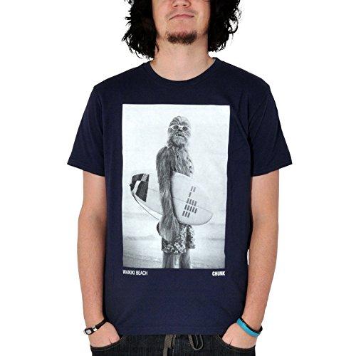 Star Wars Wookiee Surfer T-Shirt, Marken T-Shirt mit Chewbacca Blau