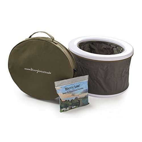 Bivvy Loo Portable Camping Toilet - Festival Toilet - Fishing Toilet - Outdoor Camping Toilet - Folds Away Flat - Supports Over 23 Stone