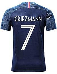 ZIGJOY Maillots de Football Enfants de France Soccer Jersey 2018 Coupe du  Monde France 2 Étoiles ba5429ba322