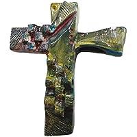 crocifisso in ceramica stile moderno firmato ITALDESIGNFOGLIARO N°C000003