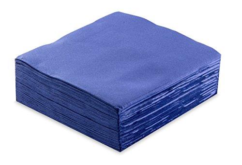 Hängelampe ser62405380Tisch, Serviette 33x 33, 1-lagig, 1/4Falz, 60Servietten, punta-punta + Bordüre, Blau
