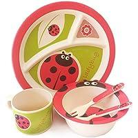 Set de desayuno coleccionable de animales 1 plato cuenco y taza DSL Ladybird Juego de desayuno de 3 piezas gran diversi/ón ligera para la cocina