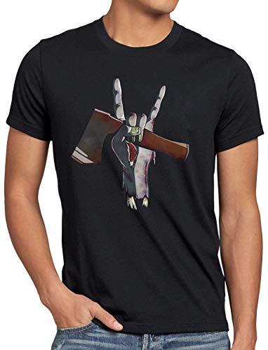 style3 Rock Zombie Herren T-Shirt Halloween untot Friedhof, -