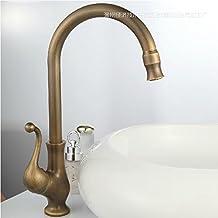 QUEEN'S HOME antichi rame tutti il lavandino del bagno cucina rubinetto fredda e vasca calda