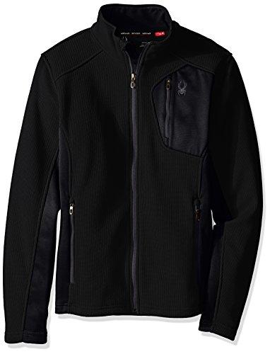 Spyder Herren Bandit Full Zip LT WT Jacke, Schwarz (Black/Polar), S Zip Front Ski-jacke