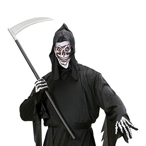 Amakando Sensenmann Sichel Halloween Sense zerlegbar, 101 cm Gevatter Tod Sichelmesser Tod Werkzeug Grim Reaper Waffe Mittelalter Spielzeugwaffe Fasching