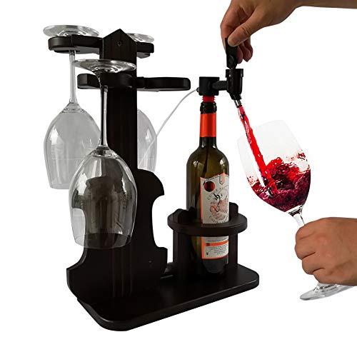 Lucky Big Head YY Rotwein Lagerregal, 1 Wein Weinspender, Rotwein Argon Frischwein Separator Nach Hause Kreative Weinregal,Polymerbottlejoint