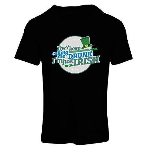 Maglietta Donna Sono solo irlandese - il divertente abbigliamento da giorno di St Patty, i detti di San Patrizio Nero Multicolore