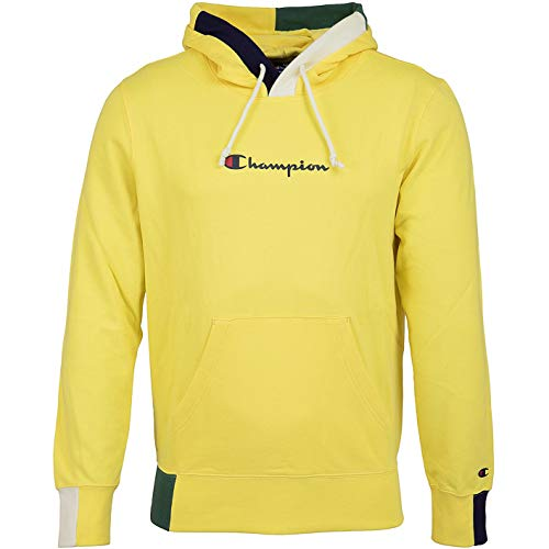 Champion Logo Hoody (L, Yellow)