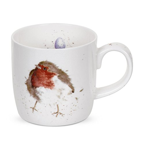 Wrendale by Royal Worcester Mug Rouge-Gorge.