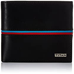 Titan Black Mens Wallet (TW167LM1BK)