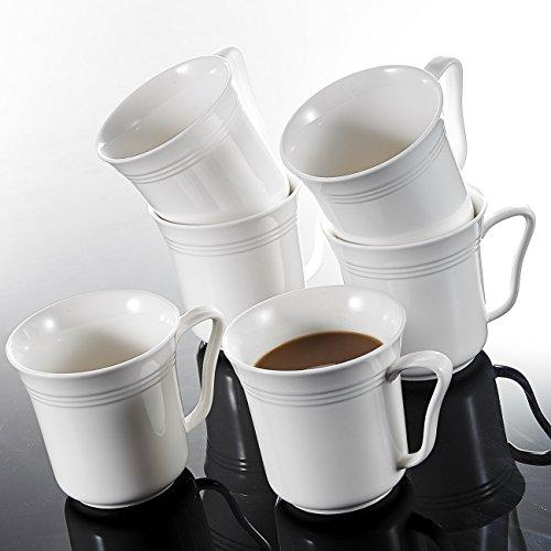 Malacasa, serie Mario, Set di 6tazze di porcellana 12,5ml bianco avorio Cina Ceramica Bianco Panna tazze